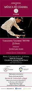 """22 de Mayo 2018, CARTEL Variaciones """"Goldberg"""" BWV988"""