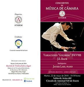 "22 de mayo, Variaciones ""Goldberg"" BWV988 PROGRAMA"