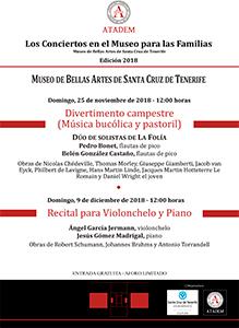 CARTEL - 25 de noviembre 2018, Divertimento campestre (Música bucólica y pastoril)