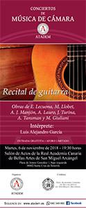 CARTEL - 6 de noviembre 2018, Recital de Guitarra
