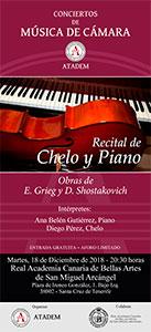 CARTEL - 18 de diciembre 2018, Recital de Chelo y Piano