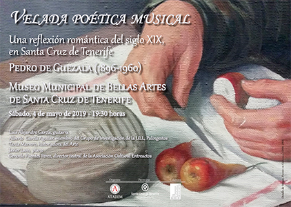 CARTEL - Sábado 4 de mayo - Velada poética musical - Pedro de Guezala (1896-1960)