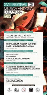 CARTEL - XVIII FESTIVAL DE MÚSICA ANTIGUA LA LAGUNA 2019