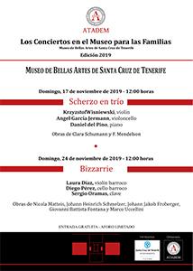 CARTEL - 17 de noviembre de 2019, Scherzo en trío - Obras de Clara Schumann y F. Mendelson